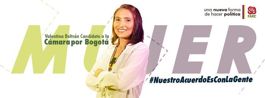 Wahlkampfplakat von Valentina