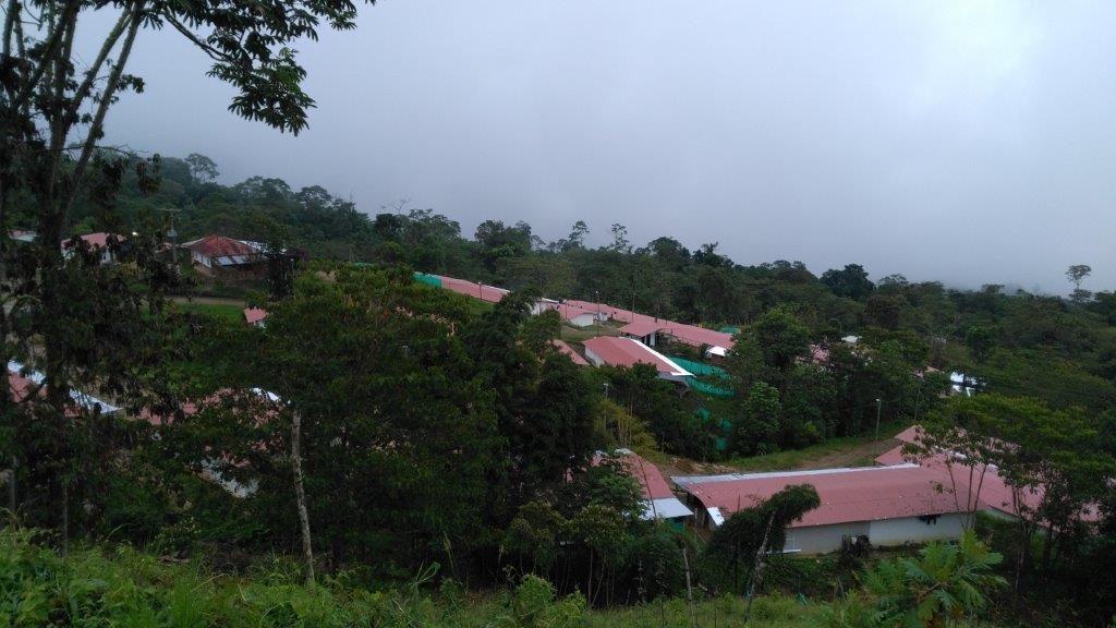 Blick auf die Wiedereingliederungszone im Dorf La Fila/Icononzo